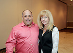 Waterbury, CT- 20 April 2017-042017CM10-  From left, Waterbury firefighter (retired) Ralph Rosa and Pam Tortorici of Waterbury are photographed during The Rivera Memorial Foundation 17th annual scholarship awards banquet on Thursday, April 20th at La Bella Vista in Waterbury.   Christopher Massa Republican-American