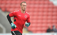 Fleetwood Town's Alex Cairns during the pre-match warm-up <br /> <br /> Photographer Kevin Barnes/CameraSport<br /> <br /> The EFL Sky Bet Championship - Fleetwood Town v AFC Wimbledon - Saturday 10th August 2019 - Highbury Stadium - Fleetwood<br /> <br /> World Copyright © 2019 CameraSport. All rights reserved. 43 Linden Ave. Countesthorpe. Leicester. England. LE8 5PG - Tel: +44 (0) 116 277 4147 - admin@camerasport.com - www.camerasport.com