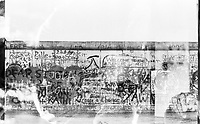 West Germany, Berlin, the wall in year 1988, double exposure
