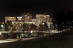 Downtown Spokane at night