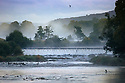 02/10/16 <br /> <br /> After a cold night  a misty dawn rises over the river Derwent on the Chatsworth Estate in the Derbyshire Peak District this morning. <br /> <br /> All Rights Reserved: F Stop Press Ltd. +44(0)1773 550665   www.fstoppress.com