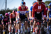 dutch national champion Fabio Jakobsen (NED/Deceuninck Quick Step) in the peloton<br /> <br /> 104th Kampioenschap van Vlaanderen 2019<br /> One Day Race: Koolskamp > Koolskamp 186km (UCI 1.1)<br /> ©kramon