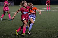 Houston Dash midfielder Denise O'Sullivan (13) and Western New York Flash midfielder McCall Zerboni (7) run stride for stride during recent NWSL match