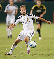 LA Galaxy forward Mike Magee (18) controls a pass during the second half of the game between LA Galaxy and the Columbus Crew at the Home Depot Center in Carson, CA, on September 11, 2010. LA Galaxy 3, Columbus Crew 1.