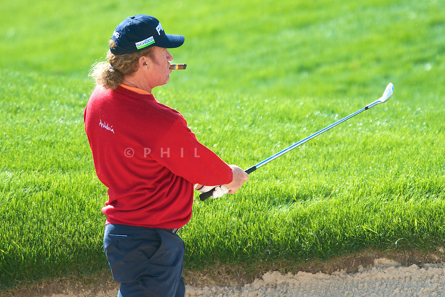 Miguel Angel Jimenez (ESP) in action during the Pro-Am of the Reale Seguros Open de Espana played at the Real Club de Golf de Sevilla, Seville, Andalucia, Spain 03-06 May 2012. (Picture Credit / Phil Inglis)