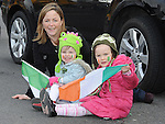 Annmarie Dillon, Molly Keenan and Niamh Byrne pictured at the Ardee St. Patrick's day parade. Photo: Colin Bell/pressphotos.ie
