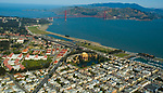 Aerial view of the Palace of Fine Arts and <br />