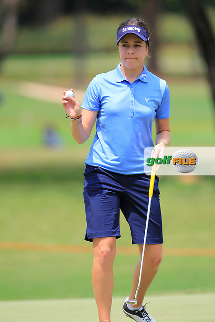 Georgia Hall (ENG) on the 10th green during Round 1 of the Honda LPGA Thailand on Thursday 23rd February 2017.<br /> Picture:  Thos Caffrey / Golffile