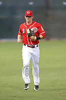 Bryson Smith #3 of the AZL Reds during a game against the AZL Brewers at the Cincinnati Reds Spring Training Complex on July 5, 2014 in Goodyear Arizona. AZL Reds defeated the AZL Brewers, 7-2. (Larry Goren/Four Seam Images)