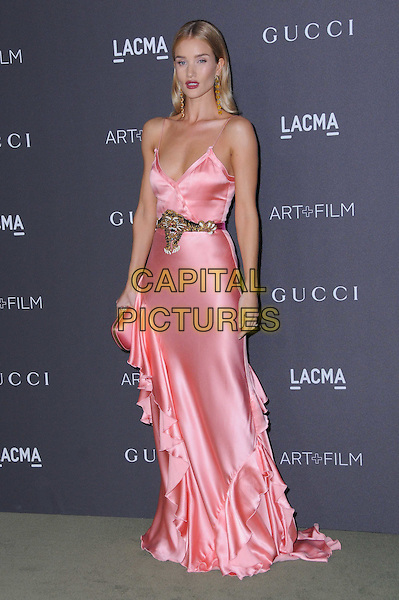 29 October 2016 - Los Angeles, California. Rosie Huntington-Whiteley. 2016 LACMA Art+Film Gala honoring Robert Irwin and Kathryn Bigelow presented by Gucci held at LACMA. <br /> CAP/ADM/BT<br /> &copy;BT/ADM/Capital Pictures