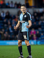 Luke O'Nien of Wycombe Wanderers during the Sky Bet League 2 match between Wycombe Wanderers and Crawley Town at Adams Park, High Wycombe, England on 28 December 2015. Photo by Andy Rowland / PRiME Media Images