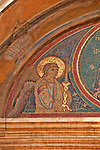 Detail of a mosaic above the side door to the Basilica di Santa Maria in Ara coeli, built in the 1200's