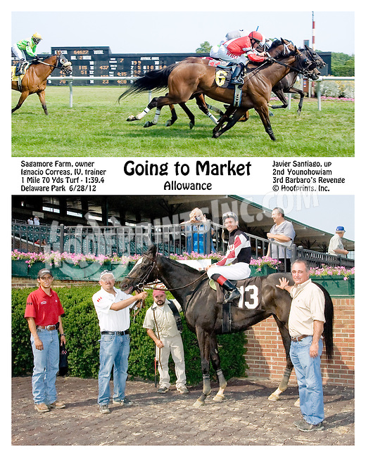 Going to Market winning Delaware Park on 6/28/12