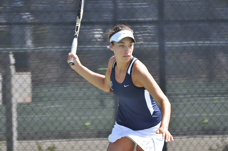 April 27, 2012; San Diego, CA, USA; Pepperdine Waves athlete Arianna Colffer during the WCC Tennis Championships at the Barnes Tennis Center.