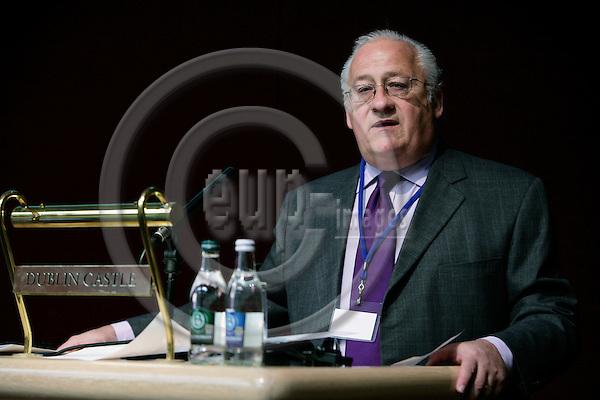 DUBLIN - IRELAND - 03 NOVEMBER 2006 -- Willis GOLDBECK, Moderator at the EUROFOUND Foundation Forum on Competitive Europe - Social Europe, Partners or Rivals.   PHOTO: ERIK LUNTANG / EUP-IMAGES