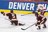 Nick Wolff (UMD - 5), Colin Staub (DU - 24), Kyle Osterberg (UMD - 8) - The University of Denver Pioneers defeated the University of Minnesota Duluth Bulldogs 3-2 to win the national championship on Saturday, April 8, 2017, at the United Center in Chicago, Illinois.
