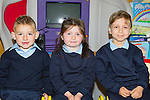 Douglas NS Killorglin junior infants on Wednesday l-r: Arthur James Calder, Caoimhe Hurley and Robert Bukaj