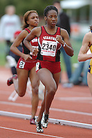1 April 2006: Ashley Freeman during Stanford's Track & Field Invitational at Cobb Track & Angell Field in Stanford, CA.