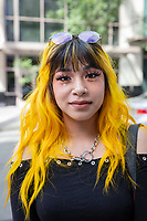 Beautiful Latina Girl with Yellow Hair, Pax West Seattle, WA, USA.