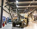 International Half-Track M5 vehicle, REME museum, MOD Lyneham, Wiltshire, England, UK