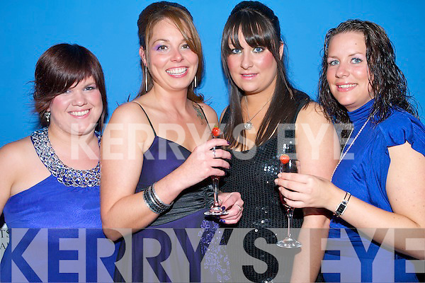 LOOKING GOOD: Members of the Student's Union of Tralee I.T. looking good at the VIP Champagne Bar in the Syndicate Rooms at the 1st birthday party of Bennners Hotel and Deacon bar on Friday l-r: Ciara Enright, Caroline Cilfford, Lauren O'Connor and Katie Sheehy.   Copyright Kerry's Eye 2008