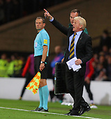 5th October 2017, Hampden Park, Glasgow, Scotland; FIFA World Cup Qualification, Scotland versus Slovakia;  Gordon Strachan sends in instructions to his players