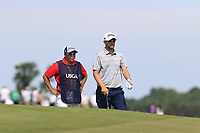 Bernd Wiesberger (AUT) and caddy Shane at the 6th green during Friday's Round 2 of the 117th U.S. Open Championship 2017 held at Erin Hills, Erin, Wisconsin, USA. 16th June 2017.<br /> Picture: Eoin Clarke | Golffile<br /> <br /> <br /> All photos usage must carry mandatory copyright credit (&copy; Golffile | Eoin Clarke)