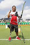 Kimimasa Onodera (JPN),<br /> SEPTEMBER 10, 2016 - Archery : <br /> Men's Individual Compound Open<br /> at Sambodromo<br /> during the Rio 2016 Paralympic Games in Rio de Janeiro, Brazil.<br /> (Photo by Shingo Ito/AFLO)