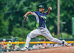 8 July 2014: Vermont Lake Monsters pitcher Jose Torres on the mound against the Lowell Spinners at Centennial Field in Burlington, Vermont. The Lake Monsters rallied with two runs in the 9th to defeat the Spinners 5-4 in NY Penn League action. Mandatory Credit: Ed Wolfstein Photo *** RAW Image File Available ****