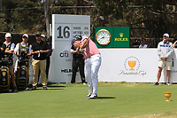 Patrick Reed (USA) on the 16th tee during the First Round - Four Ball of the Presidents Cup 2019, Royal Melbourne Golf Club, Melbourne, Victoria, Australia. 12/12/2019.<br /> Picture Thos Caffrey / Golffile.ie<br /> <br /> All photo usage must carry mandatory copyright credit (© Golffile | Thos Caffrey)