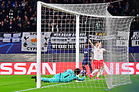 10th March 2020, Red Bull Arena, Leipzig, Germany; EUFA Champions League, RB Leipzig v Tottenham Hotspur; The goal scored for 2:0 from the deft header by Marcel Sabitzer  Leipzig beating Lloris of Spurs at the near post