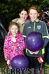 Julia Gleeson with Catherine Cunningham and Chloe Gleeson (all from Abbeydorney) pictured at the Balloon release in Tralee Town Park on Sunday last.
