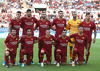 Football, Serie A: AS Roma - Sassuolo, Olympic stadium, Rome, September 15, 2019. <br /> Roma's players pose for the pre match photograph prior to the Italian Serie A football match between Roma and Sassuolo at Olympic stadium in Rome, on September 15, 2019.<br /> UPDATE IMAGES PRESS/Isabella Bonotto