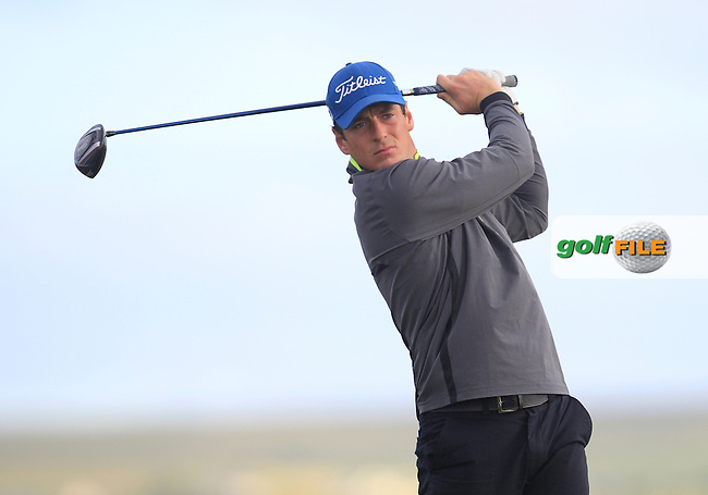 Colin Fairweather (Knock) on the 2nd tee during Round 2 of the South of Ireland Amateur Open Championship at LaHinch Golf Club on Thursday 23rd July 2015.<br /> Picture:  Golffile | Thos Caffrey