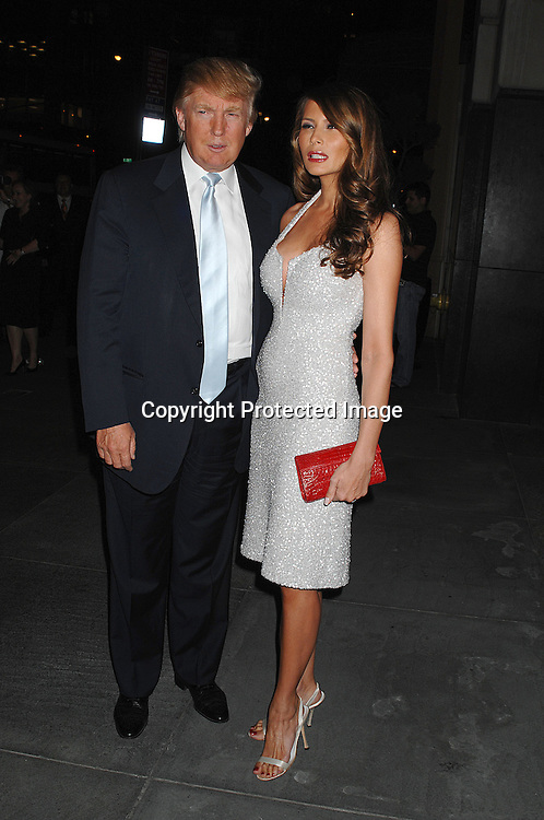 Donald Trump and wife Melania..arriving at the party for Ivanka Trump Fine Jewelry launch on September 20, 2007 at Country at The Carlton Hotel in ..New York City.....photos by Robin Platzer, Twin Images......212-935-0770