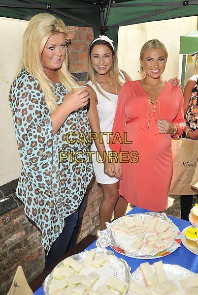ESSEX, ENGLAND - JUNE 28: Gemma Collins, Sam Faiers &amp; Billie Faiersattends the Minnie's Boutique Marie Curie Tea Party, Minnie's Boutique, Ropers Yard., on Saturday June 28, 2014 in Essex, England, UK.<br /> CAP/CAN<br /> &copy;Can Nguyen/Capital Pictures