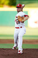 Scott Schneider (29) of the Springfield Cardinals delivers a pitch during a game against the Tulsa Drillers at Hammons Field on July 18, 2011 in Springfield, Missouri. Tulsa defeated Springfield 13-8. (David Welker / Four Seam Images)