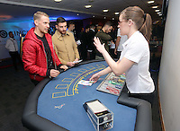 Pictured: Daniel Alfei at the roulette table<br />
