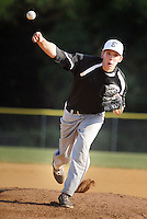 Bensalem pitcher Tiernan Ryan throws a pitch against Newtown  in the first inning Monday June 20, 2016 at Valley Athletic Association in Bensalem, Pennsylvania. Newtown defeated Bensalem 6-5. (Photo by William Thomas Cain)