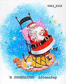 GIORDANO, CHRISTMAS SANTA, SNOWMAN, WEIHNACHTSMÄNNER, SCHNEEMÄNNER, PAPÁ NOEL, MUÑECOS DE NIEVE, paintings+++++,USGI2312,#X#