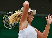 England, London, Juli 06, 2015, Tennis, Wimbledon, Coco Vandeweghe (USA) in action against Lucie Safarova (CZE)<br /> Photo: Tennisimages/Henk Koster
