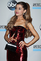 LOS ANGELES, CA - NOVEMBER 24: Ariana Grande in the press room at the 2013 American Music Awards held at Nokia Theatre L.A. Live on November 24, 2013 in Los Angeles, California. (Photo by Celebrity Monitor)