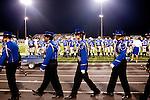 Fannin County High School (blue) versus Pickens County in Blue Ridge, Georgia September 3, 2010. Fannin County's mascot is the rebel.
