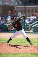 Visalia Rawhide relief pitcher Tyler Mark (23) delivers a pitch to the plate during a California League game against the Stockton Ports at Visalia Recreation Ballpark on May 9, 2018 in Visalia, California. Stockton defeated Visalia 4-2. (Zachary Lucy/Four Seam Images)