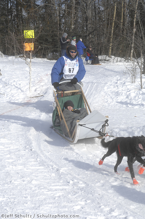 John Baker Anchorage Start Iditarod 2008.