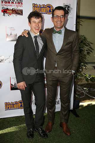 LOS ANGELES, CA - NOVEMBER 7: Nolan Gould and Ty Burrell at the Kids In The Spotlight's Movies By Kids, For Kids Film Awards at Fox Studios in Los Angeles, California on November 7, 2015. Credit: David Edwards/MediaPunch