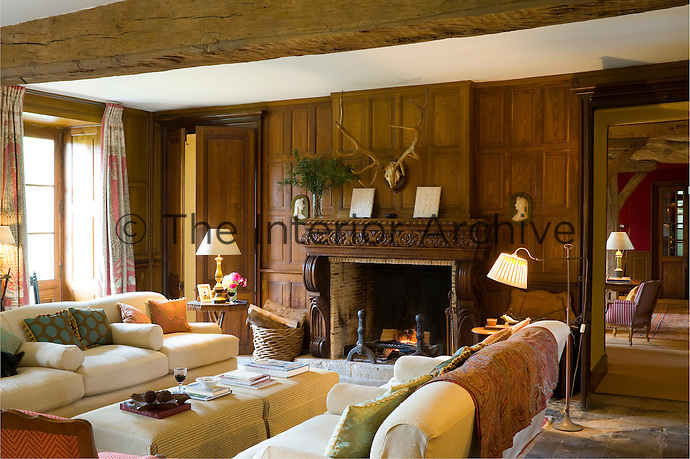 The massive oak beams and stone floors of the chateau bear testimony to its origins as a 17th century hunting lodge