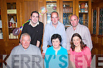 Birthday Dinner of Breda Murphy Pictured centre in blue, at Leens Hotel Abbeyfeale on saturday night (5/10/13). Back row, L-R : Leonard Murphy (Son), Paudie Murphy (Son), Ian Liston (Son in-law), Front R-L : Bridget Liston (Daughter), Bridget Murphy, Pat Murphy (Husband)
