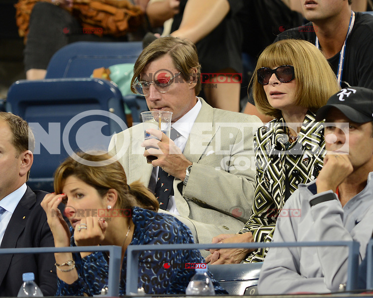 FLUSHING NY- SEPTEMBER 5: Mirka Federer and Anna Wintour are sighted watching the Federer Vs Berdych match on Arthur Ashe stadium at the USTA Billie Jean King National Tennis Center on September 5, 2012 in in Flushing Queens. Credit: mpi04/MediaPunch Inc. ***NO NY NEWSPAPERS*** /NortePhoto.com<br /> <br /> **CREDITO*OBLIGATORIO** *No*Venta*A*Terceros*<br /> *No*Sale*So*third* ***No*Se*Permite*Hacer...<br /> more »