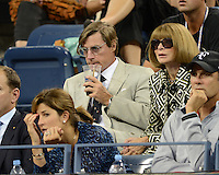 FLUSHING NY- SEPTEMBER 5: Mirka Federer and Anna Wintour are sighted watching the Federer Vs Berdych match on Arthur Ashe stadium at the USTA Billie Jean King National Tennis Center on September 5, 2012 in in Flushing Queens. Credit: mpi04/MediaPunch Inc. ***NO NY NEWSPAPERS*** /NortePhoto.com<br />